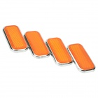Hailis HL-6021 ABS Reflective Warning Sticker for Car - Yellow Orange (4 PCS)