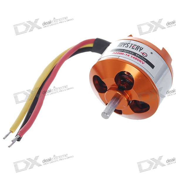 Mystery A2208-14 1450KV Outrunner Brushless Motor for RC Helicopter a2212 6t 2200kv outrunner motor brushless for rc aircraft quadcopter helicopter hc6u drop shipping