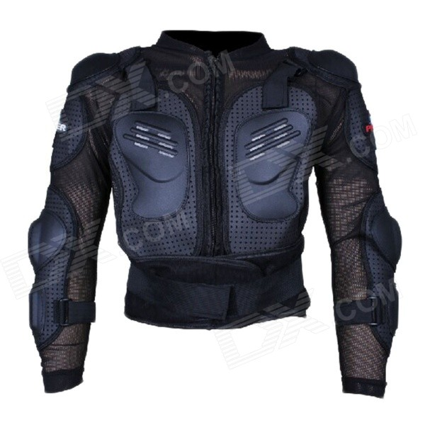 PRO-BIKER HX-P15 Motorcycle Cross-country Strengthened Thickened Fall Proof Armor - Black (XL)