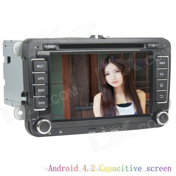 LsqSTAR 7 Capacitive Screen Android 4.2.2 Car DVD Player w/ GPS / WiFi / 1GB RAM / 8GB Flash for VW автомобильный dvd плеер wincen android 4 1 dvd vw golf 5 6 passat jetta tiguan touran skoda octavia seat altea