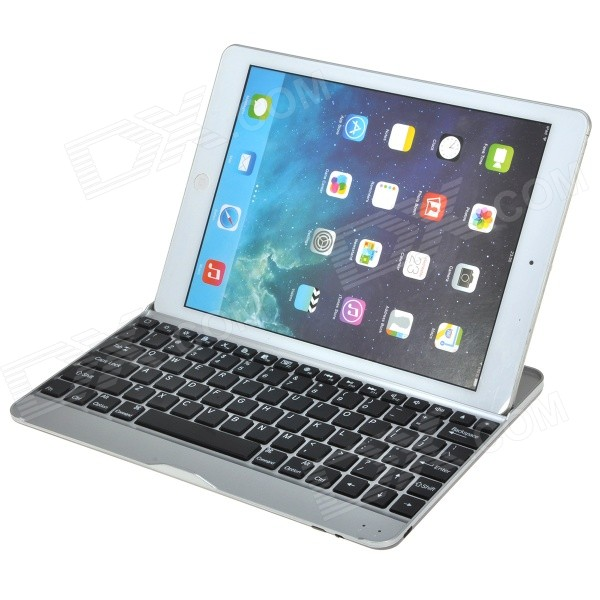 все цены на Classic Ultrathin Aluminum Alloy Wireless Bluetooth Keyboard w/ Stand for IPAD AIR - Black онлайн