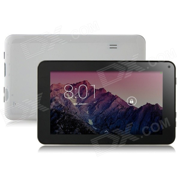 SOSOON X18Quad-Core 7 Android 4.4 Tablet PC w/ 512MB RAM / 8GB ROM / WiFi OTG - Black + White sosoon x88 quad core 8 ips android 4 4 tablet pc w 1gb ram 8gb rom hdmi gps bluetooth white