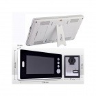"KX7001-2V1 7"" LCD Screen Wireless Video Door Phone w/ 2 Night Vision Cameras + 1 Monitor - Black"