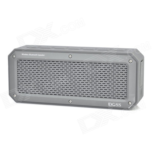 DOSS DS-1368 Bluetooth V3.0 + EDR Speaker w/ 3.5mm / TF / Micro USB - Grey doss ds 1188s portable gesture control wireless bluetooth v2 0 edr speaker w tf black