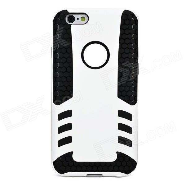 Rocket Pattern Detachable Protective TPU Back Case for IPHONE 6 4.7 - White + Black pc tpu protective back case for iphone 5 black white