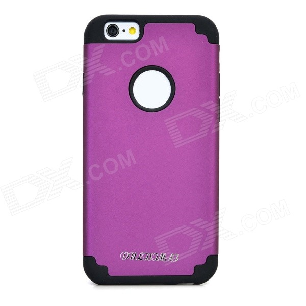 DULISIMAI Protective PC + Silicone Back Case for IPHONE 6 - Purple + Black protective pc tpu back case for iphone 5 w anti dust cover lavender purple