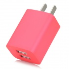 iznc znc-021 Universal Dual-USB AC Power Charger Adapter - Deep Pink (US Plug)