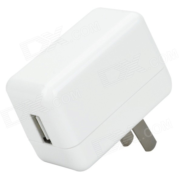 iznc znc-016 Universal USB AC Power Charger Adapter for IPHONE / IPAD - White (US Plug) iznc znc 021 universal dual usb ac power charger adapter for iphone ipad white us plug
