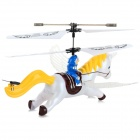 Syma S2 3.5-CH Horse Style IR Remote R/C Helicopter w/ Gyro / Lamp - Yellow + White (4 x AA)