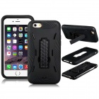 3-in-1 PC Hard Case Armor w/ Stand for IPHONE 6 - Black