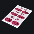 MZFS660 Lip + Leopard Pattern DIY Shimmering Nail Decorative Stickers - Black + Deep Pink (12 PCS)