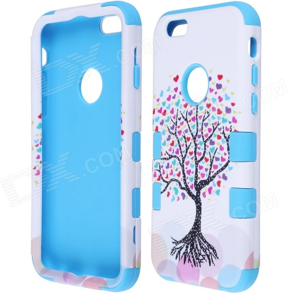все цены на  Love Heart Tree Style Protective PC + Silicone Back Case for IPHONE 6 4.7