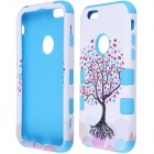 "Love Heart Tree Style Protective PC + Silicone Back Case for IPHONE 6 4.7"" - White + Blue"