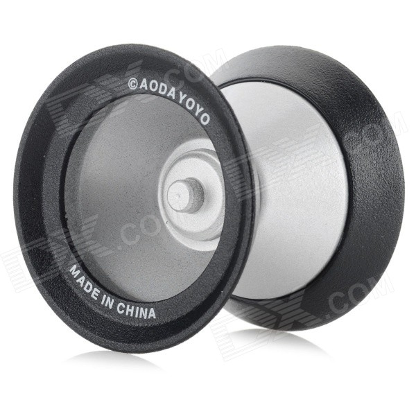 AODA Portable Cool Alloy + Plastic Yo-Yo Toy - Black + Silver aoda plastic yo yo toy green