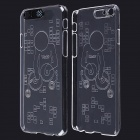"DJ Pattern LED Flash Light Protective ABS Back Cover Case for IPHONE 6 4.7"" - Transparent"