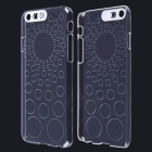 "Circles Pattern LED Flash Light Protective ABS Back Cover Case for IPHONE 6 4.7"" - Transparent"