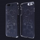 DJ Pattern LED Flash Light Protective ABS Back Cover Case for IPHONE 6 PLUS - Transparent