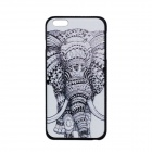 "Elephant Pattern Protective PC Back Case Cover for IPHONE 6 PLUS 5.5"" - White + Black"