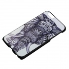 "Elephant Pattern Protective PC Back Case Cover for IPHONE 6 4.7"" - White + Black"