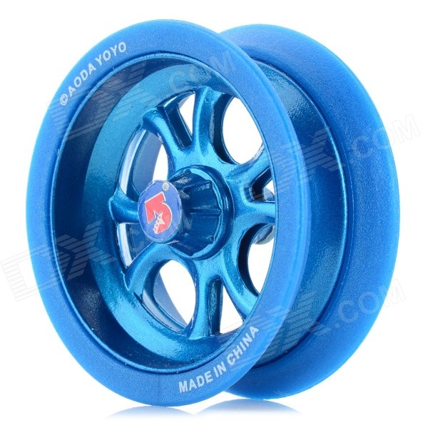 AODA Portable Cool Plastic + Alloy Yo-Yo Toy - Deep Blue