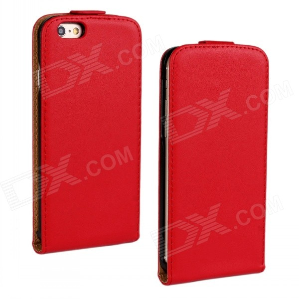 Business Style Protective Top Flip-Open Case Cover for IPHONE 6 4.7 - Red fa део стик men xtreme dry 50 мл