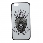 "Double Axes Skull Pattern Protective PC Back Case Cover for IPHONE 6 4.7"" - White + Black"