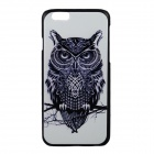 "Owl Pattern Protective PC Back Case Cover for IPHONE 6 4.7"" - White + Black"