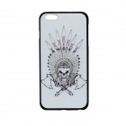 "Double Axes Skull Pattern Protective PC Back Case Cover for IPHONE 6 PLUS 5.5"" - White + Black"