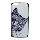 "Cute Cat Pattern Protective PC Back Cover Case for IPHONE 6 4.7"" - White + Black"