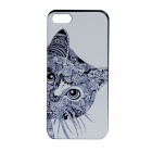 "Cute Cat Pattern Protective PC Back Case Cover for IPHONE 6 PLUS 5.5"" - White + Black"