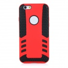 2-in-1 Protective TPU Back Case Cover for IPHONE 6 - Red + Black