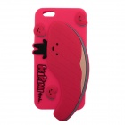 "3D Salmon Pattern Protective Silicone Back Case w/ Dust Plug for IPHONE 6 PLUS 5.5"" - Red"