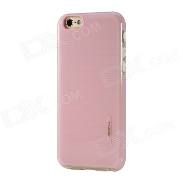 ROCK Jello Series Protective PC + TPU Back Case for IPHONE 6 - Pink hoco defender series plating pc case for apple watch 38mm series 1 series 2 silver