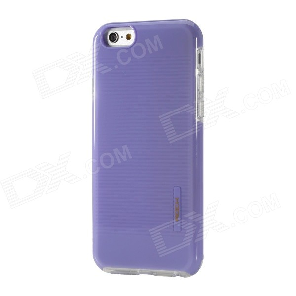 ROCK Jello Series Protective PC + TPU Back Case for IPHONE 6 4.7 - Purple protective pc tpu back case for iphone 5 w anti dust cover lavender purple