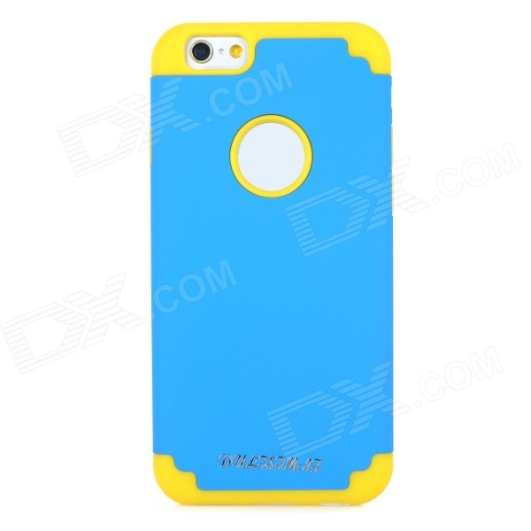 DULISIMAI 2-in-1 Protective PC + Silicone Back Case Cover for IPHONE 6 - Sky Blue + Yellow link dream protective tpu pc back case for iphone 5 5s sky blue yellow