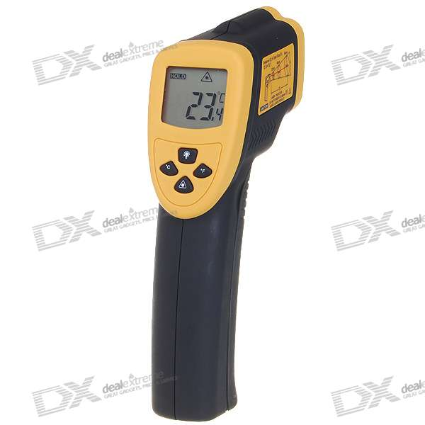 """1.5"""" LCD Non Contact Digital InfraRed Thermometer with Laser Sight (-50°C~530°C)"""