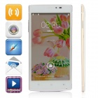 "F7 MTK6582 Quad-Core Android 4.4.2 WCDMA Bar Phone w/ 5.0"" IPS QHD, 8GB ROM, GPS, FM - White + Gold"