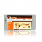 "F7 MTK6582 Quad-Core Android 4.4.2 WCDMA Bar Phone w / 5.0 ""QHD IPS, 8 Go ROM, GPS, FM - Blanc + Gold"