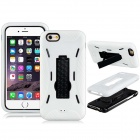3-in-1 PC Hard Case Armor w/ Stand for IPHONE 6 - White
