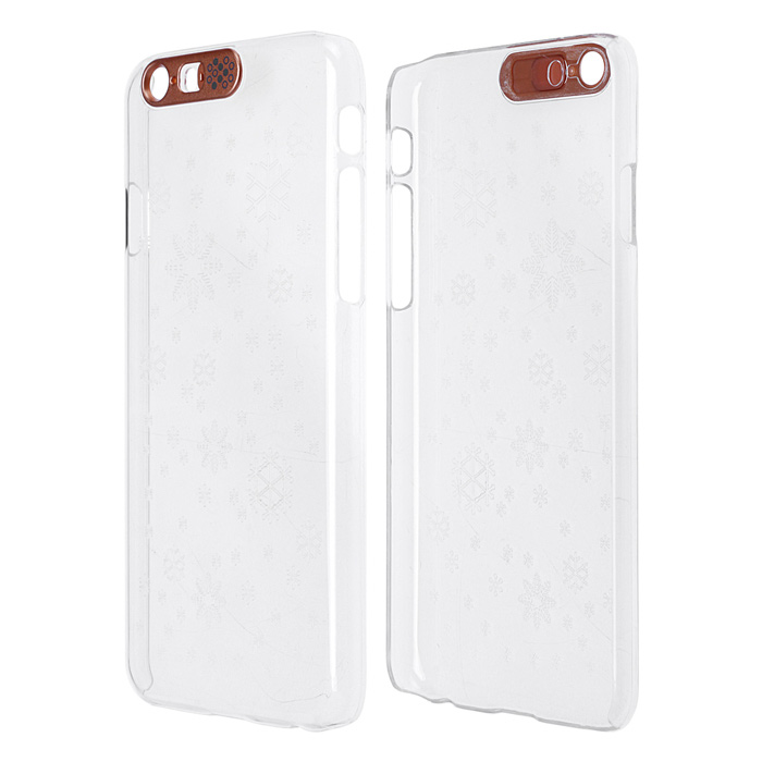Snowflake Pattern LED Flash Light Protective ABS Hard Case for IPHONE 6 4.7 - Transparent аксессуар защитное стекло monsterskin 5d для apple iphone 6 plus white