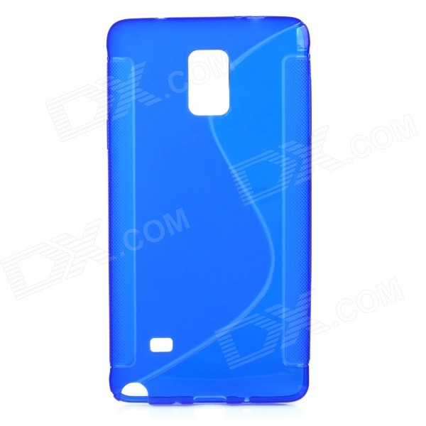 Protective TPU Back Case Cover for Samsung NOTE 4 / N910 / N910F / N910X - Deep Blue 2 in 1 detachable protective tpu pc back case cover for samsung galaxy note 4 black
