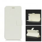 Silk Pattern Ultra-thin Protective Flip-Open PU Leather Case w/ Stand for IPHONE 6 PLUS - White