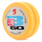 AODA Portable Cool Plastic Yo-Yo Toy - Yellow + White