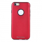 DULISIMAI Protective Plastic + PC Back Case Cover for IPHONE 6 - Red + Black
