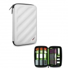 BUBM Multi-Purpose Shockproof EVA Hard Shell Digital Pouch Storage Bag - White