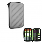 BUBM Multi-Purpose Shockproof EVA Hard Shell Digital Pouch Storage Bag - Gray
