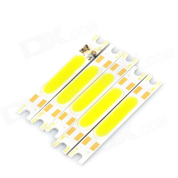 JRLED 3W 300lm 3000K 21-COB LED Warm White Light Modules - White + Yellow (5 PCS / DC 10~11V)