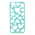 Protective Hollow-Out Cooling Breathable Heart Style PC Back Case Cover for IPHONE 5 / 5S - Green