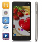 "G9000 SC6825 Android 4.2.2 GSM Bar Phone w/ 5.0"" Screen, Quad-band, 2GB ROM, FM, Wi-Fi - Black"