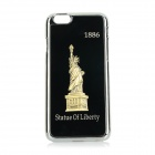 Statue of Liberty Patterned Titanium Alloy + Plastic Back Case Cover for IPHONE 6 - Black